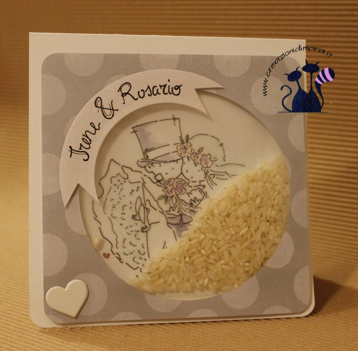 card wedding rice